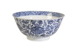 BLUE AND WHITE BOWL, KANGXI SIX CHARACTER MARK AND OF THE PERIOD