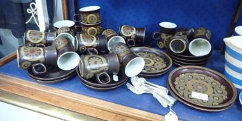 A COLLECTION OF DENBY ARABESQUE TEA AND COFFEE WARE