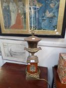 A NEOCLASSICAL TABLE LAMP OF URN FORM