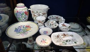 A COLLECTION OF 'HUNTING SCENE' POTTERY