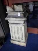 A VICTORIAN SQUARE SECTION FLUTED CHIMNEY POT