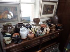 A COLLECTION OF ART POTTERY