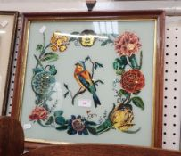 A VICTORIAN REVERSE GLASS PAINTING