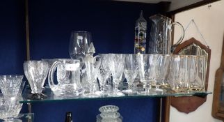 A COLLECTION OF 1930S AND LATER GLASSWARE