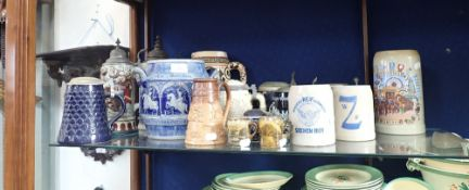 A COLLECTION OF GERMAN STEINS