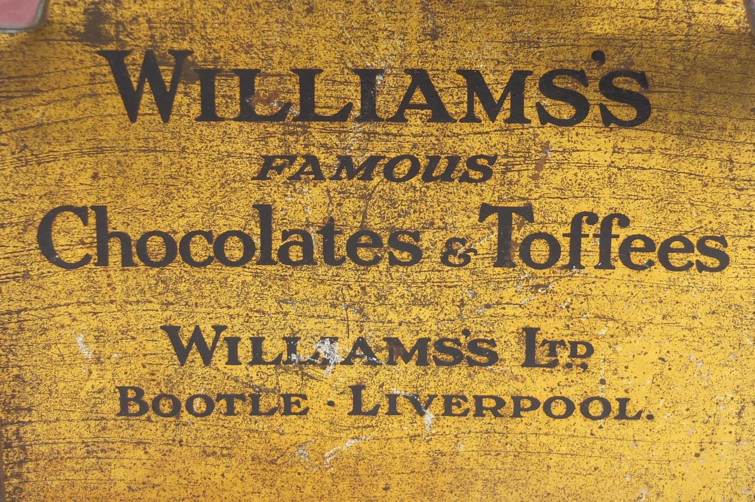 Vintage Chad Valley tin globe and Williams toffee tin in the form of a knife box, the largest 28cm - Image 10 of 10