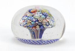 19th century Baccarat Millefiori close pack glass paperweight, approximately 8.1cm in diameter : For
