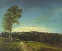 Attributed to Thomas Kennedy - High Beech, Essex, oil on board, inscribed verso, framed, 49cm x 59cm