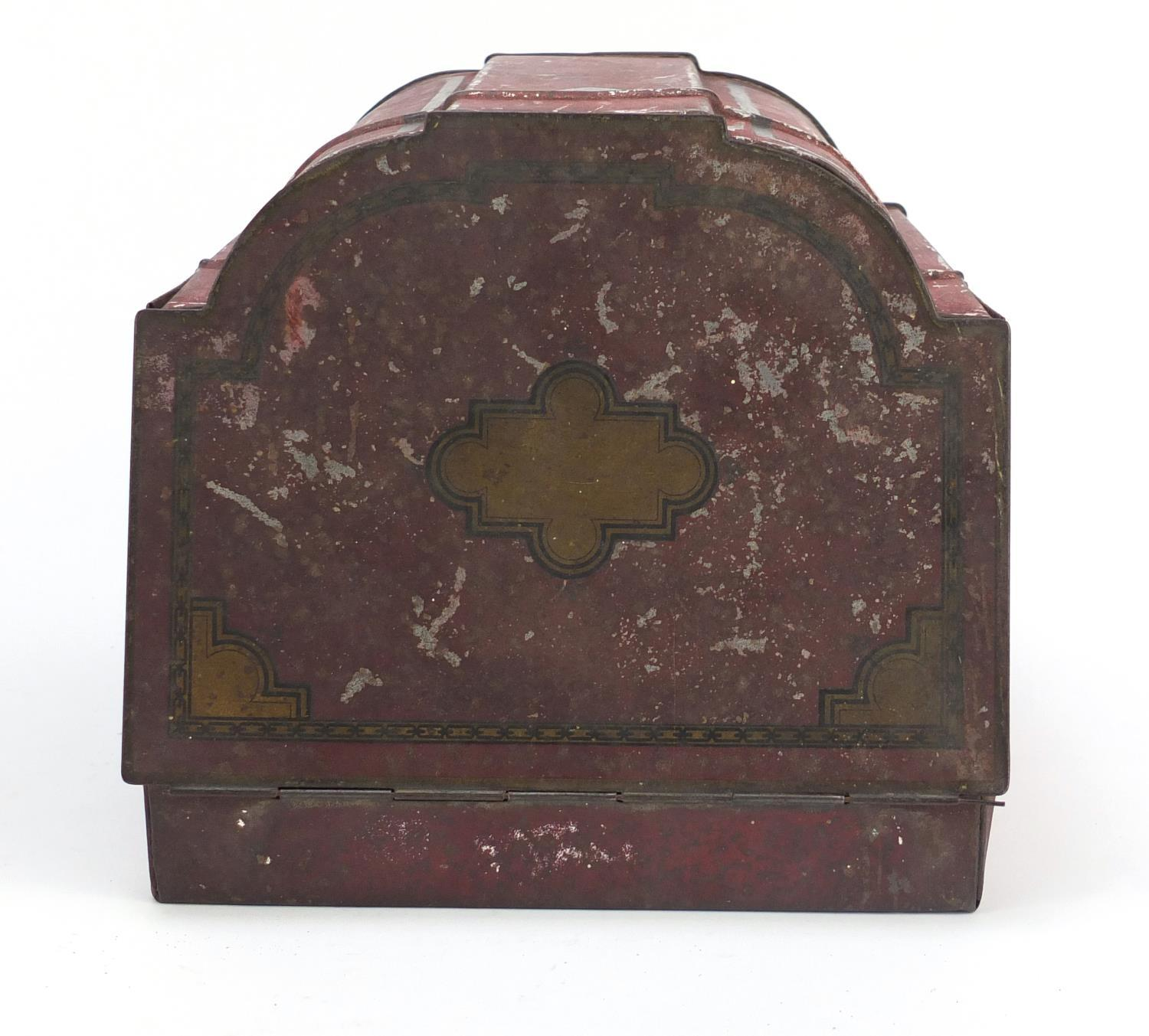 Vintage Chad Valley tin globe and Williams toffee tin in the form of a knife box, the largest 28cm - Image 8 of 10