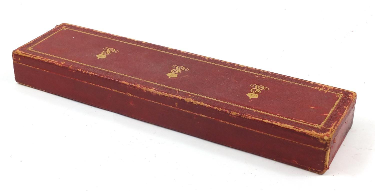 Royal interest Edward VIII Grant of Arms with wax seals and fitted tooled leather box, inscribed - Image 13 of 13