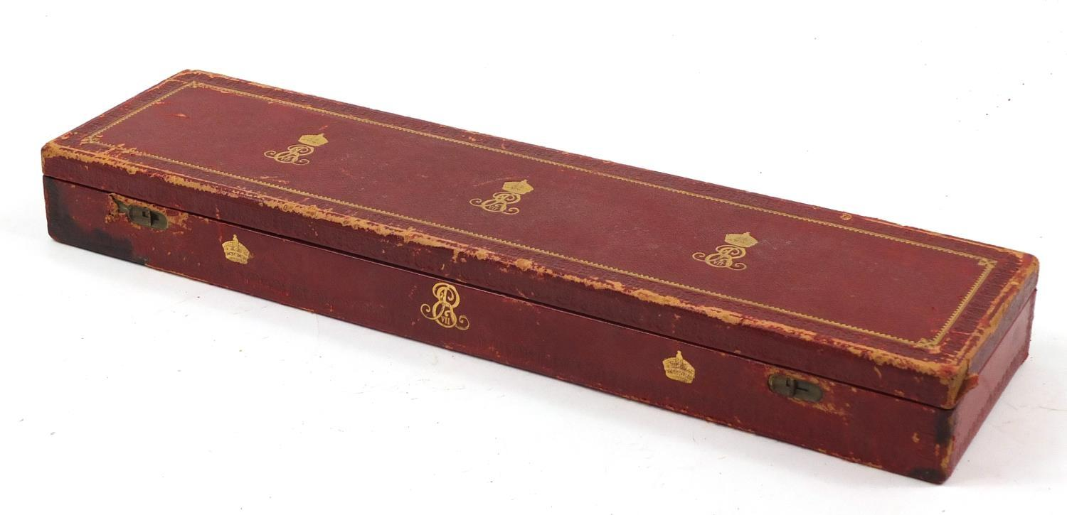 Royal interest Edward VIII Grant of Arms with wax seals and fitted tooled leather box, inscribed - Image 11 of 13