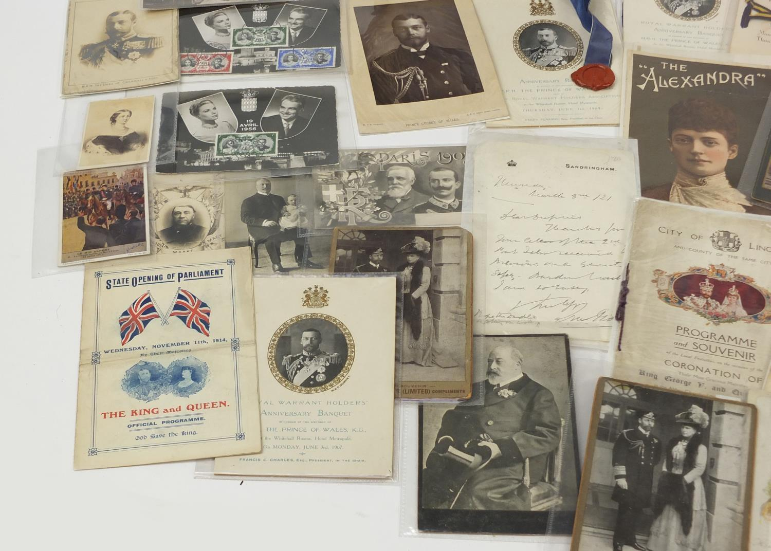 Royal and commemorative ephemera including a Queen Mary signed presentation photograph, ink - Image 3 of 9