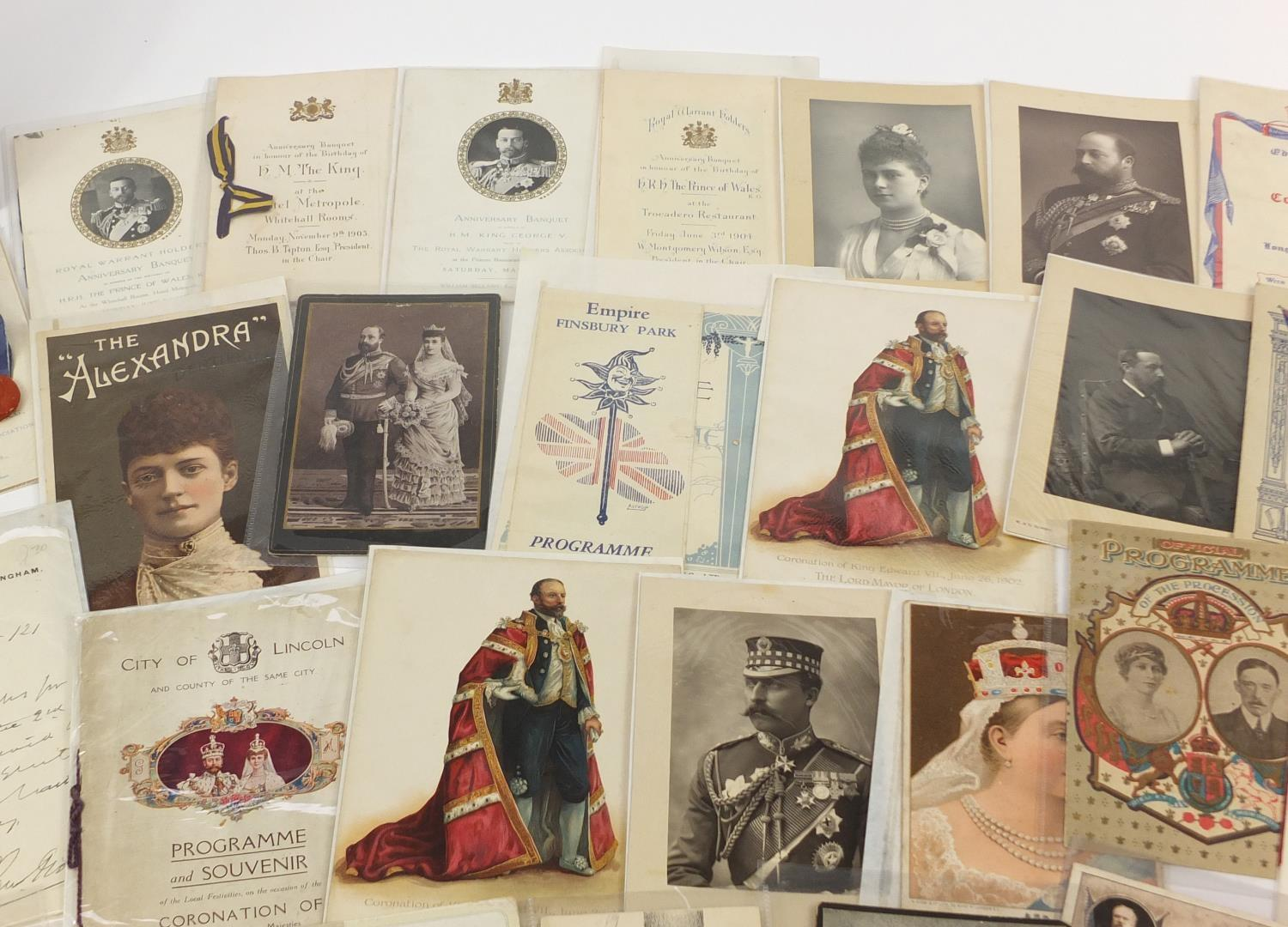 Royal and commemorative ephemera including a Queen Mary signed presentation photograph, ink - Image 4 of 9