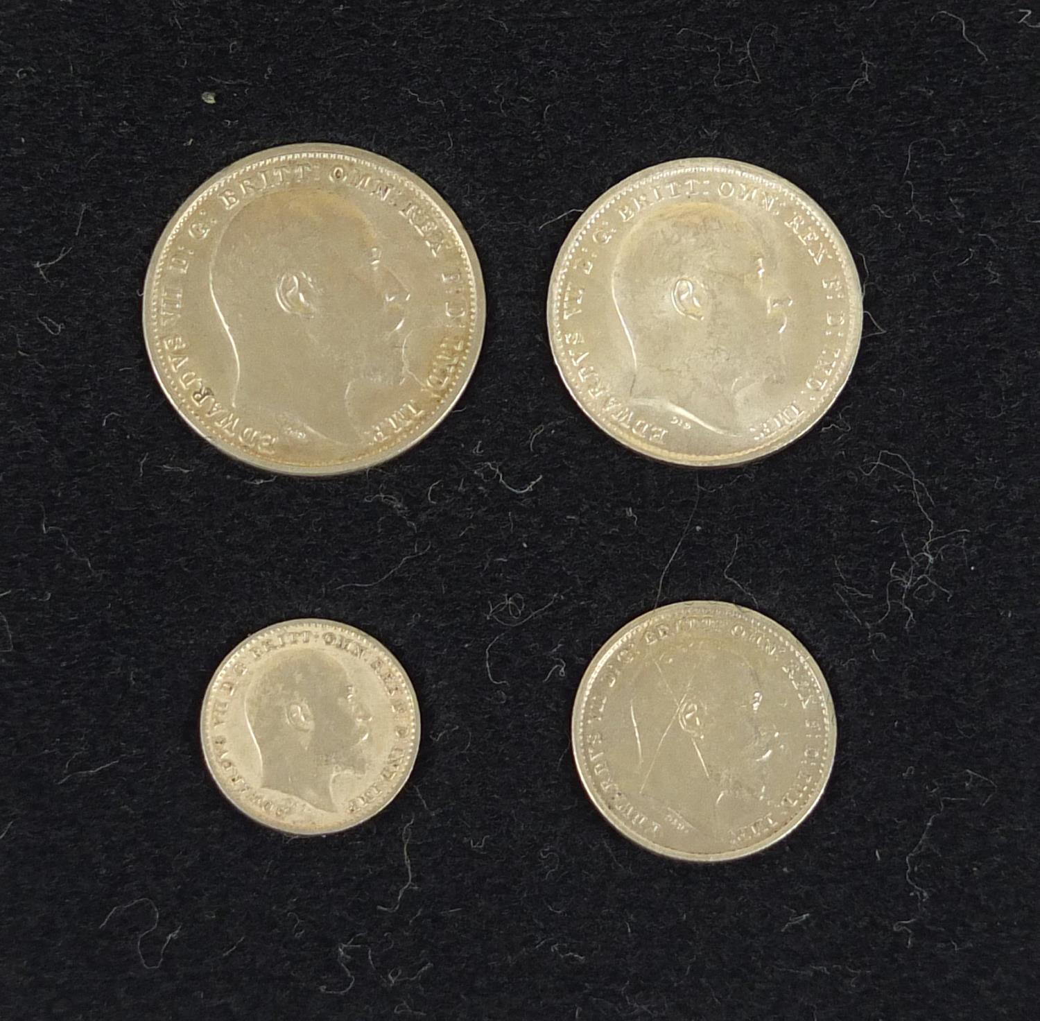 Edward VII 1902 Maundy Coin set with fitted case - Image 3 of 4