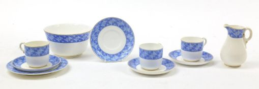 Royal Worcester, Victorian aesthetic Queen Anne teaware produced for Oetzmann & Co of London,
