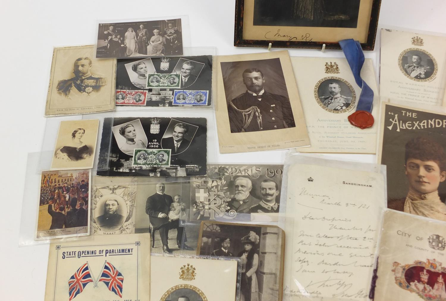 Royal and commemorative ephemera including a Queen Mary signed presentation photograph, ink - Image 2 of 9
