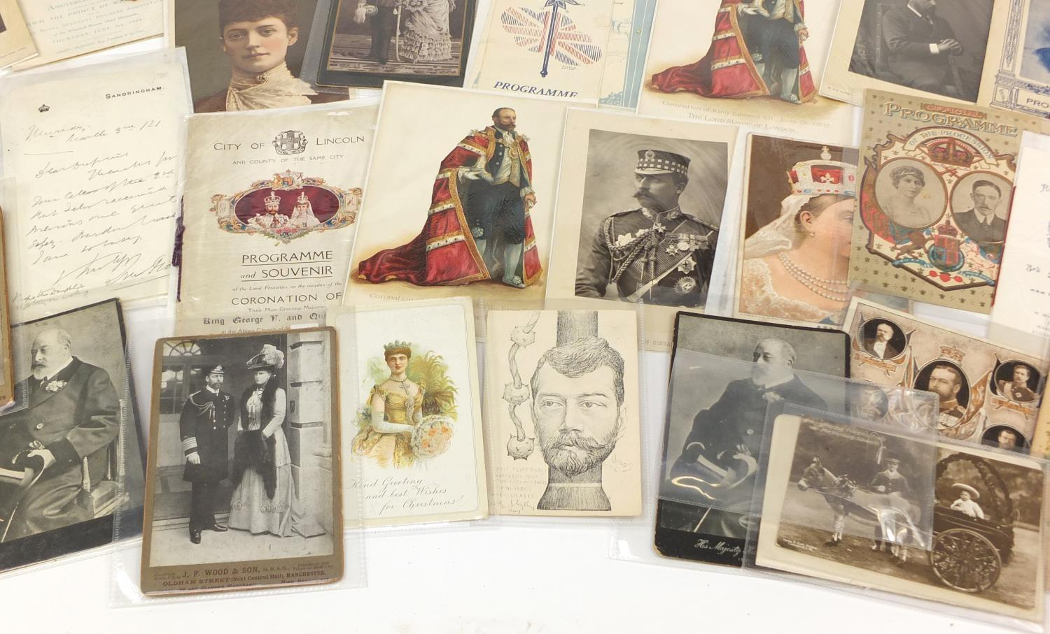 Royal and commemorative ephemera including a Queen Mary signed presentation photograph, ink - Image 5 of 9