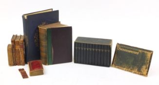 Antique and later books including Works of Shakespeare, volumes 1-12 with case, Ambulator or A
