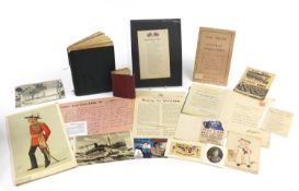 Military and naval ephemera including a Boer War Bovril war bulletin, two Tuck's Better Little