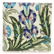 William de Morgan for Sands End, Arts & Crafts pottery hand painted with stylised flowers, impressed