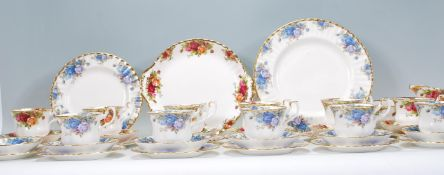 A Royal Albert Moonlight Rose pattern part tea service comprising cups, saucers, plates etc