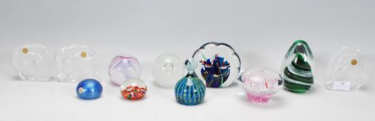 A group of 20th Centurystudio glass paperweights