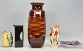 A collection of retro vintage studio art pottery t
