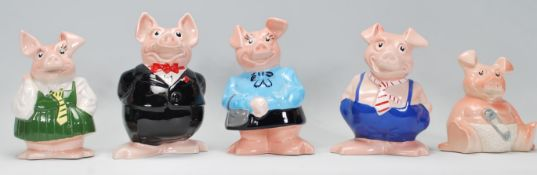 A set of Wade Natwest pottery pigs, to include Max