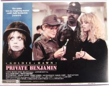 GOLDIE HAWN - PRIVATE BENJAMIN - SIGNED LOBBY CARD