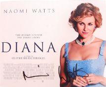 """NAOMI WATTS - DIANA - AUTOGRAPHED 8X10"""" PHOTOGRAPH"""