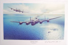 WWII DAMBUSTERS GEORGE JOHNNY JOHNSON SIGNED PRINT