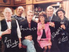 """ONLY FOOLS & HORSES CAST MULTI-SIGNED 12X16"""" PHOTOGRAPH"""
