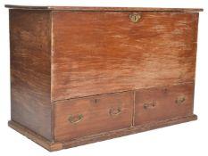 A Victorian 19th century teak wood mule chest / co