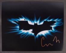BATMAN BEGINS - CHRISTOPHER NOLAN - AUTOGRAPHED PHOTO