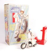 RARE 1970'S IDEAL ' EVEL KNIEVEL STUNT CYCLE ' PLAYSET