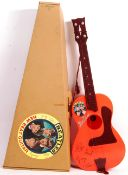 RARE SELCOL 1960'S THE BEATLES NEW BEAT PLASTIC TOY GUITAR