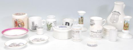 A selection of 19th Century and later ceramics to include a Dr Nelson's improved inhaler, a