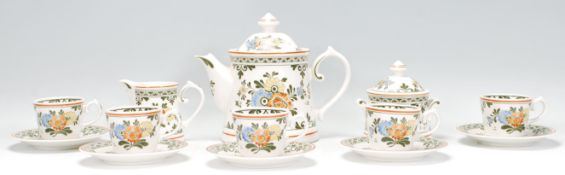 A vintage 20th Century Villeroy and Boch coffee service in the Amsterdam pattern, consisting of