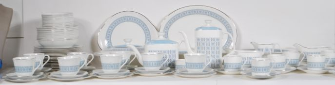 An extensive Royal Doulton bone China service in the Counterpoint pattern, consisting of coffee