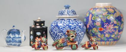 A mix group of 20th Chinese ceramic wares to inclu