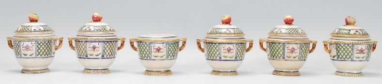 A collection of six early 20th Century French cera