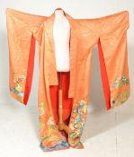 A vintage mid 20th Century 1950's Japanese silk Ki