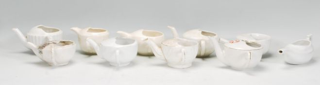 A group of ten ceramic Invalid Feeder cups dating