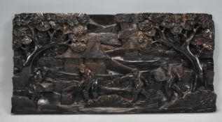 A believed early 20th century Asian carved hardwoo