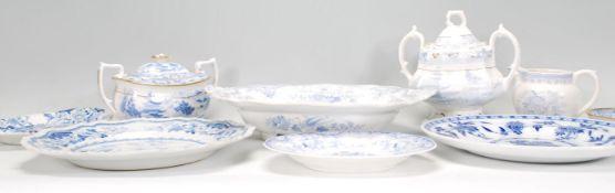 A collection of blue and white English ceramics da