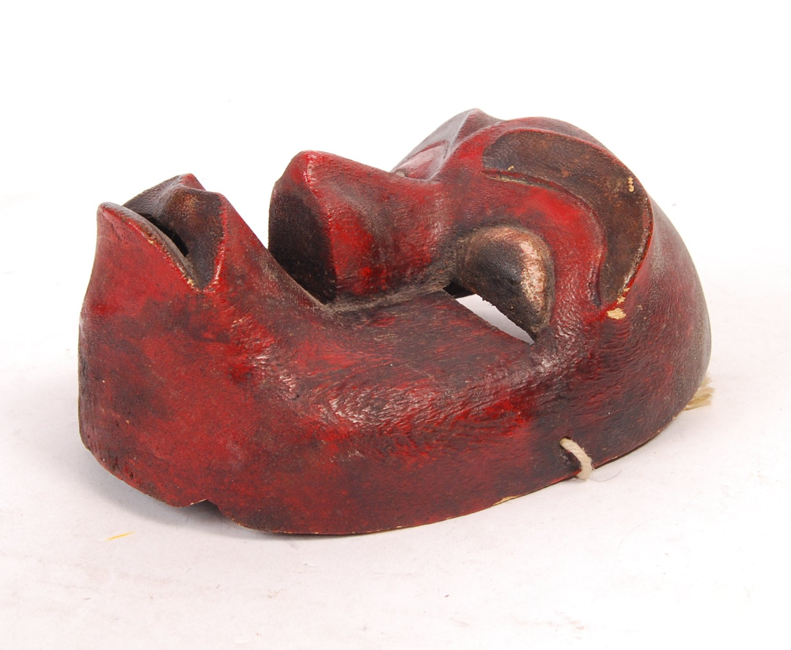 Lot 325 - EARLY 20TH CENTURY WEST AFRICAN PAINTED CARNIVAL / RITUAL MASK