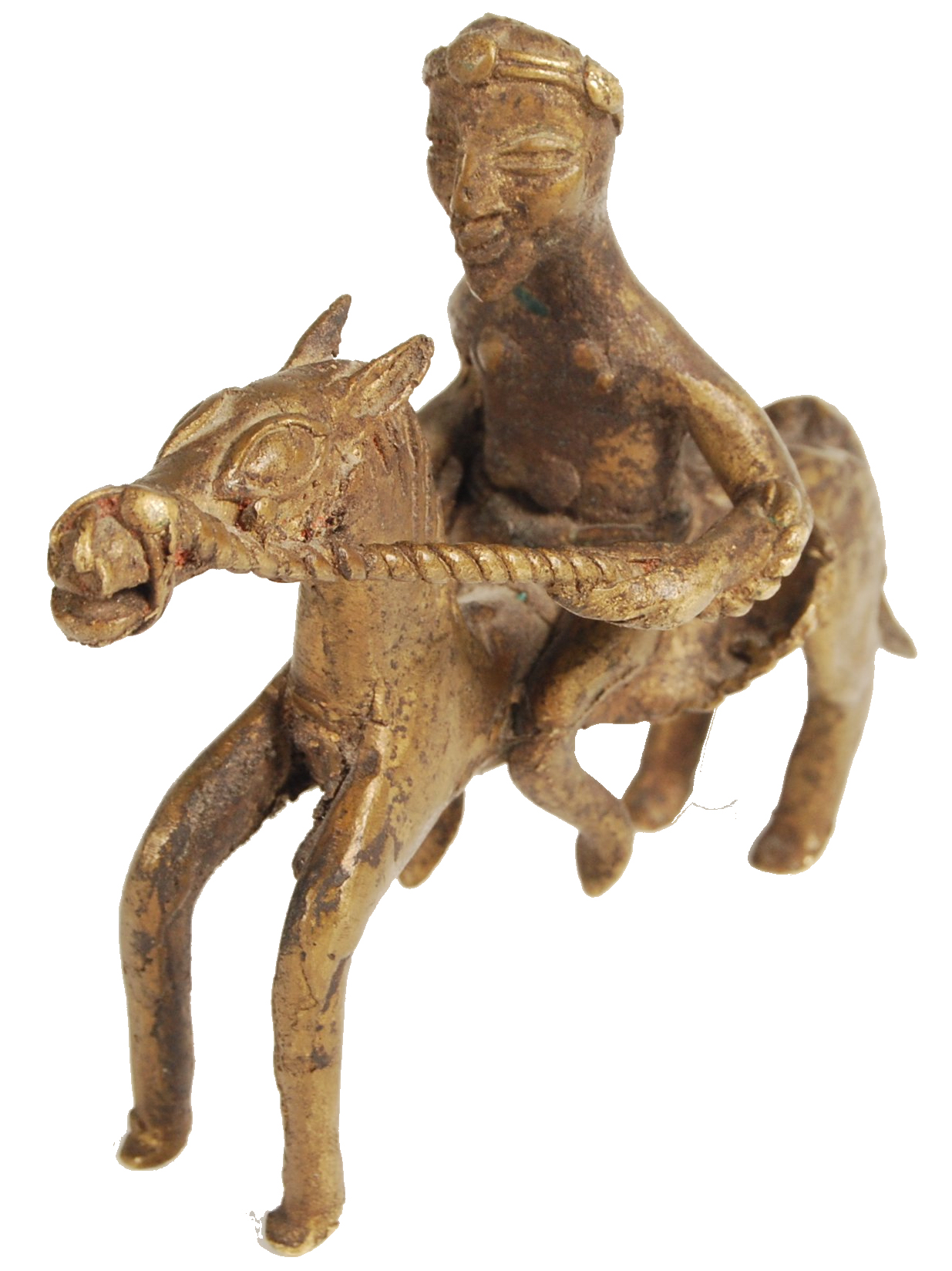 Lot 409 - EARLY 20TH CNETURY BRONZE AFRICAN ART DOGON WARRIOR ON HORSE