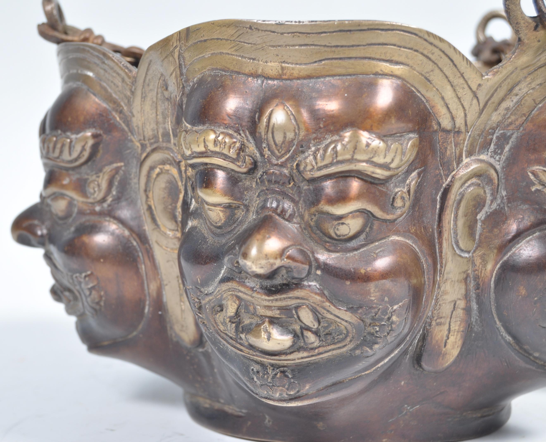 Lot 13 - EARLY 20TH CENTURY INDONESIAN HINDU ANCIENT DEITY INCENSE BURNER