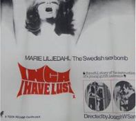 INGA HAVE LUST - X - ORIGINAL UK QUAD CINEMA POSTE