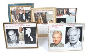 ASSORTED COLLECTION OF AUTOGRAPHS - SUCHET, CURTIS